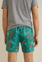MANGO - Florpa swimming trunks - blue & orange