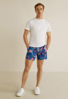 MANGO - Florpa swimming trunks - blue & red
