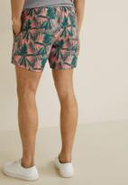 MANGO - Florpa swimming trunks - pink & green