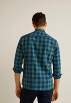 MANGO - Claude shirt - green & blue