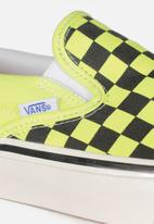 Vans - Ua anaheim factory classic slip-on 98 - og yellow neon/checkerboard