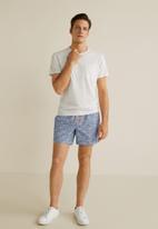 MANGO - Florin2 swimming trunks - navy & white