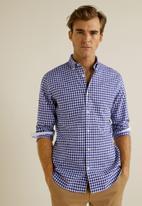 MANGO - Vichy shirt - blue & white