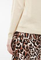 Jacqueline de Yong - Brice long sleeve pullover knit - beige
