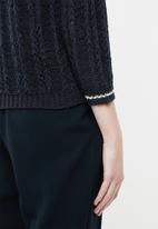 Jacqueline de Yong - Mynte pullover knit - navy