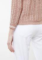 Jacqueline de Yong - Mynte pullover knit - pink