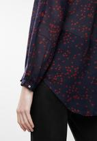 Jacqueline de Yong - Loop long sleeve shirt - red & navy