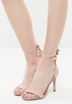 Call It Spring - Faux leather ankle strap heel - pink