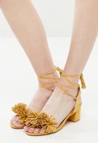 Madison® - Fringe detail heels - yellow
