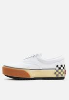 Vans - Ua confetti era stacked sneaker - white/checkerboard