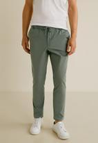 MANGO - Roma 4 trousers - khaki green
