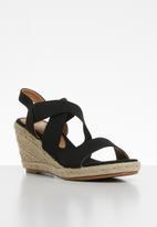Butterfly Feet - Wedge heel - black