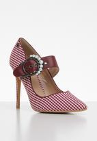 Miss Black - Karabo heel - red & white