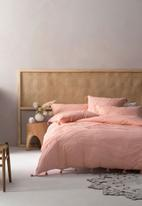 Linen House - Shibui duvet cover set - blush