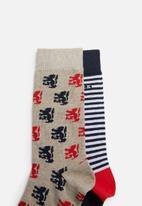Pringle of Scotland - Ross 2 pack socks - multi