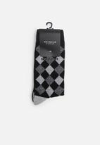Pringle of Scotland - Toby 2 pack socks - black & grey