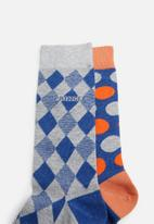 Pringle of Scotland - Toby 2 pack socks - grey