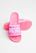 Diesel  - SA-valla w slides - pink carnation/star white