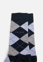 Pringle of Scotland - Argyle socks - grey & blue