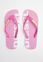 Diesel  - SA-briian w flip flops - pink carnation/freesia