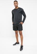 Nike - Nike dry miler top ls - black & silver