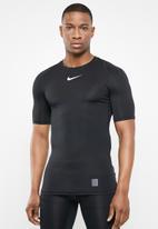 Nike - Np short sleeve top - black & white