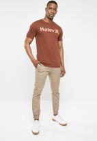 Hurley - One & only push thro tee -  brown