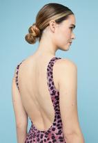 Superbalist - Low back one piece - purple & black