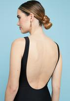 Superbalist - Scoop neck one piece - black