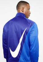Nike - NSW swoosh jacket - blue & white