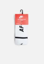 Nike - Sneaker sox 2 pack - white & black
