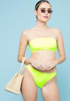 Superbalist - Bandeau bikini top - lumo yellow