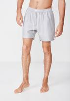 Cotton On - Micro geo swim shorts - grey & white
