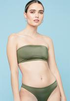 Superbalist - Bandeau bikini top - khaki