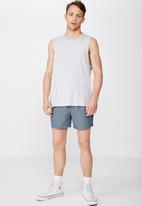 Cotton On - Micro geo swim shorts - navy & white