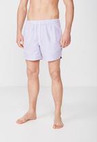 Cotton On - Fine stripe swim short - blue & pink