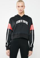 Converse - Basketball mashup mid hoodie - black