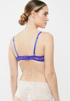 Superbalist - Lace covertible bra - blue