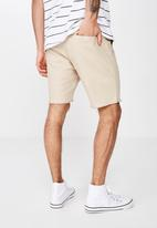 Cotton On - Raw hem chino - beige