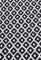 Sixth Floor - Outdoor floor cushion - black geo