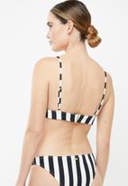 Roxy - Beach bikini basic bikini top - black & white