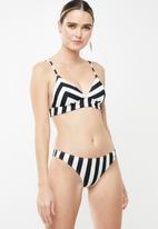 Roxy - Beach basic bikini bottom - black & white