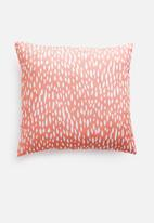 Sixth Floor - Etched cushion cover - coral
