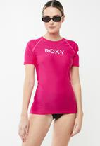 Roxy - Basic roxy surf rashvest - pink