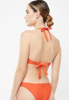 Sissy Boy - Moulded cup strappy bikini top - orange