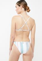 Roxy - Beach classics striped bikini bottom - multi