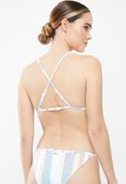 Roxy - Beach classics striped fixed bikini top - multi