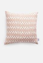 Sixth Floor - Leaves cushion cover - rust
