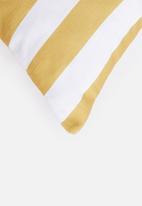 Sixth Floor - Sunshine stripe cushion cover - yellow