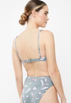 Roxy - Comes in waves elongated bikini top - grey